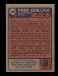 1985 Topps #159  Fred Quillan  Back Thumbnail