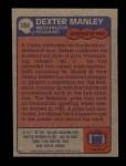 1985 Topps #184  Dexter Manley  Back Thumbnail