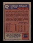 1985 Topps #349  Mickey Shuler  Back Thumbnail