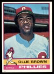 1976 Topps #223  Ollie Brown  Front Thumbnail