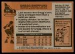 1975 Topps #235  Gregg Sheppard   Back Thumbnail
