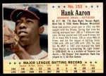 1963 Post Cereal #152  Hank Aaron  Front Thumbnail