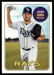 2018 Topps Heritage #342  Jacob Faria  Front Thumbnail