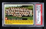 1956 Topps #100 LFT  Orioles Team Front Thumbnail