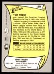 1988 Pacific Legends #25  Tom Tresh  Back Thumbnail