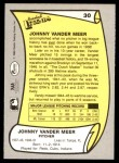 1988 Pacific Legends #30  Johnny VanderMeer  Back Thumbnail
