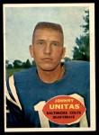 1960 Topps #1  Johnny Unitas  Front Thumbnail