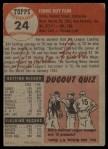 1953 Topps #24  Ferris Fain  Back Thumbnail