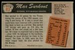 1955 Bowman #83  Max Surkont  Back Thumbnail
