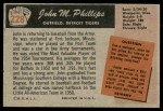 1955 Bowman #228  John Phillips  Back Thumbnail