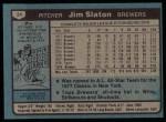 1980 Topps #24  Jim Slaton  Back Thumbnail