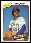 1980 Topps #24  Jim Slaton  Front Thumbnail
