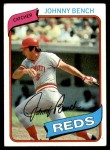 1980 Topps #100  Johnny Bench  Front Thumbnail