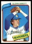1980 Topps #166  Glenn Abbott  Front Thumbnail
