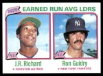 1980 Topps #207   -   J.R. Richard / Ron Guidry ERA Leaders  Front Thumbnail