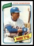 1980 Topps #299  Steve Henderson  Front Thumbnail