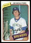 1980 Topps #448  Jim Wohlford  Front Thumbnail
