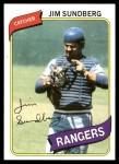 1980 Topps #530  Jim Sundberg    Front Thumbnail