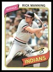 1980 Topps #564  Rick Manning  Front Thumbnail