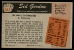 1955 Bowman #163  Sid Gordon  Back Thumbnail
