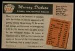 1955 Bowman #236  Murray Dickson  Back Thumbnail