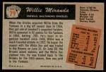 1955 Bowman #79  Willie Miranda  Back Thumbnail