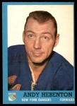 1962 Topps #54  Andy Hebenton  Front Thumbnail