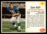 1962 Post Cereal #20  Sam Huff  Front Thumbnail