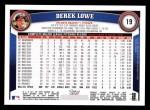 2011 Topps #19  Derek Lowe  Back Thumbnail