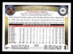 2011 Topps #64  Yorvit Torrealba  Back Thumbnail
