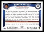 2011 Topps #80  Desmond Jennings  Back Thumbnail