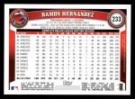 2011 Topps #233  Ramon Hernandez  Back Thumbnail