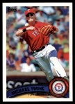 2011 Topps #320  Michael Young  Front Thumbnail