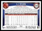 2011 Topps #323  C.J. Wilson  Back Thumbnail