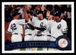 2011 Topps #424   Yankees Team Front Thumbnail