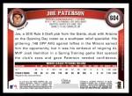 2011 Topps #604  Joe Paterson  Back Thumbnail
