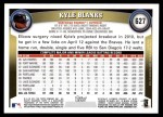 2011 Topps #627  Kyle Blanks  Back Thumbnail