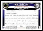 2011 Topps Update #162  Troy Tulowitzki  Back Thumbnail