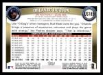 2011 Topps Update #185  Orlando Hudson  Back Thumbnail