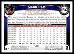 2011 Topps Update #82  Mark Ellis  Back Thumbnail