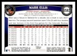 2011 Topps Update #82  Mark Ellis  Back Thumbnail
