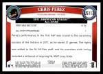 2011 Topps Update #113  Chris Perez  Back Thumbnail