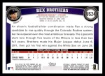 2011 Topps Update #24  Rex Brothers  Back Thumbnail