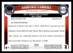 2011 Topps Update #229  Asdrubal Cabrera  Back Thumbnail