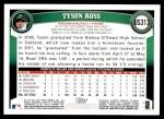 2011 Topps Update #313  Tyson Ross  Back Thumbnail