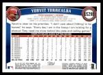 2011 Topps Update #298  Yorvit Torrealba  Back Thumbnail