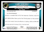 2011 Topps Update #321  Gaby Sanchez  Back Thumbnail