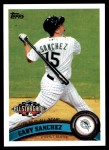 2011 Topps Update #321  Gaby Sanchez  Front Thumbnail