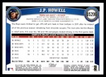 2011 Topps Update #206  J.P. Howell  Back Thumbnail