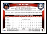 2011 Topps Update #102  Sean Burnett  Back Thumbnail
